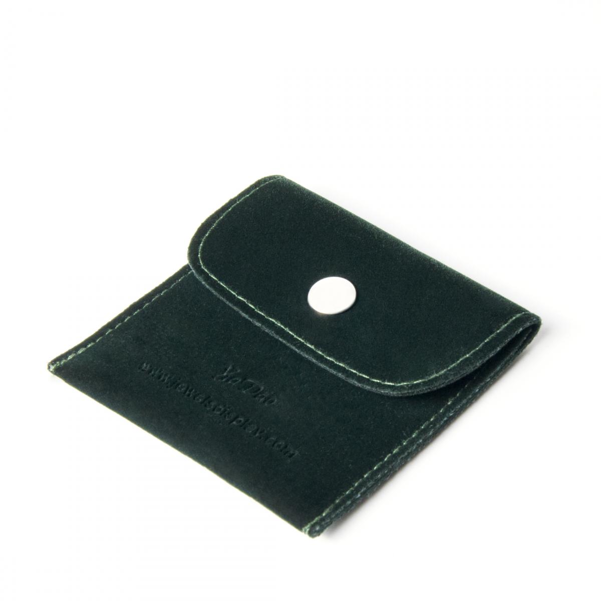 Brown microfiber pouch jewelry packaging