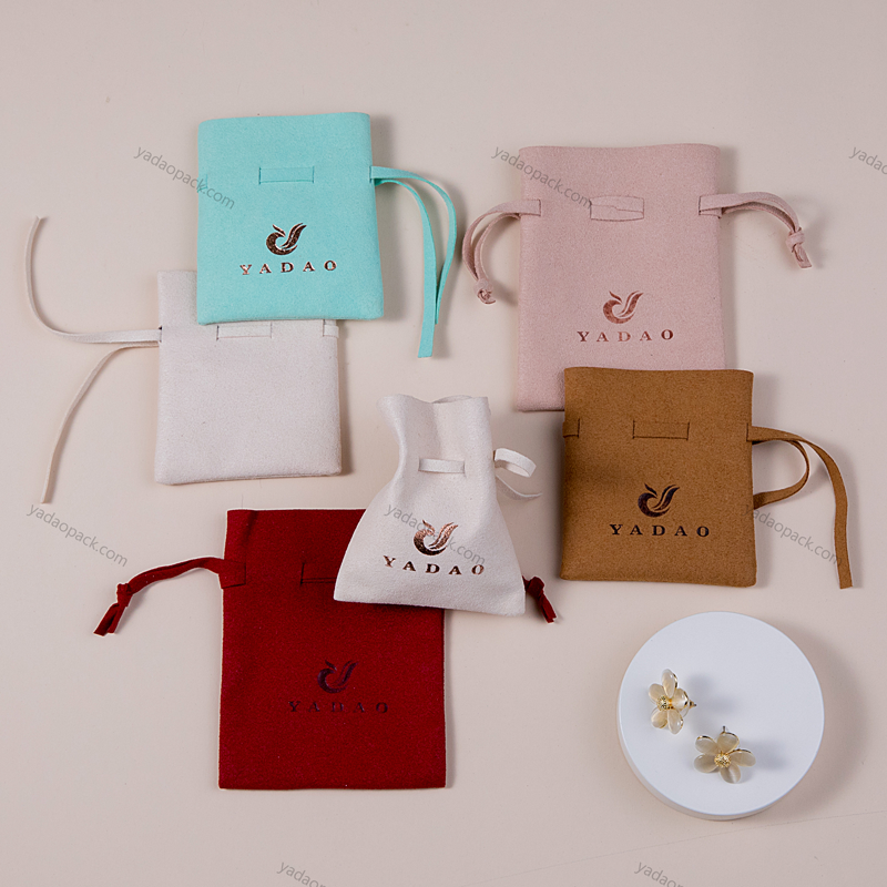 Handmade drawstring pouch small package bag customized in any color