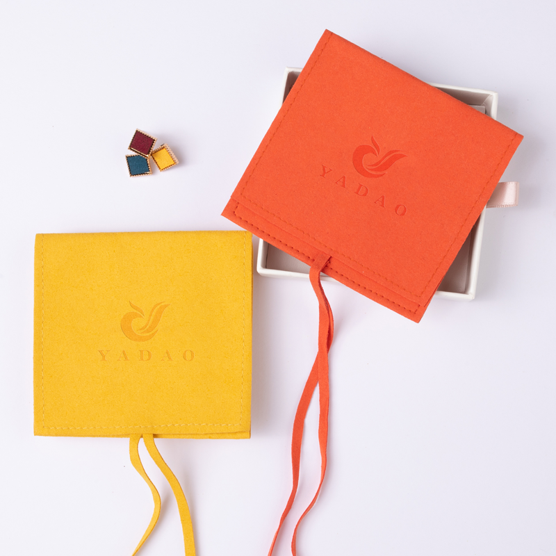 Bright color square pouch match to the box