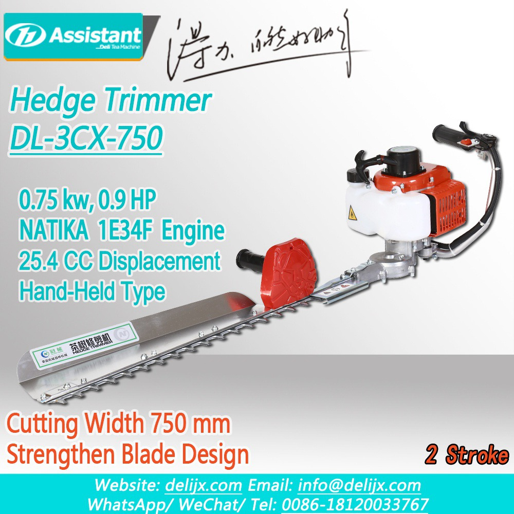 Cina 750mm Cutting Width Hand-held Tea Tree Leaf Hedge Trimmer Machine DL-3CX-750A pabrikan