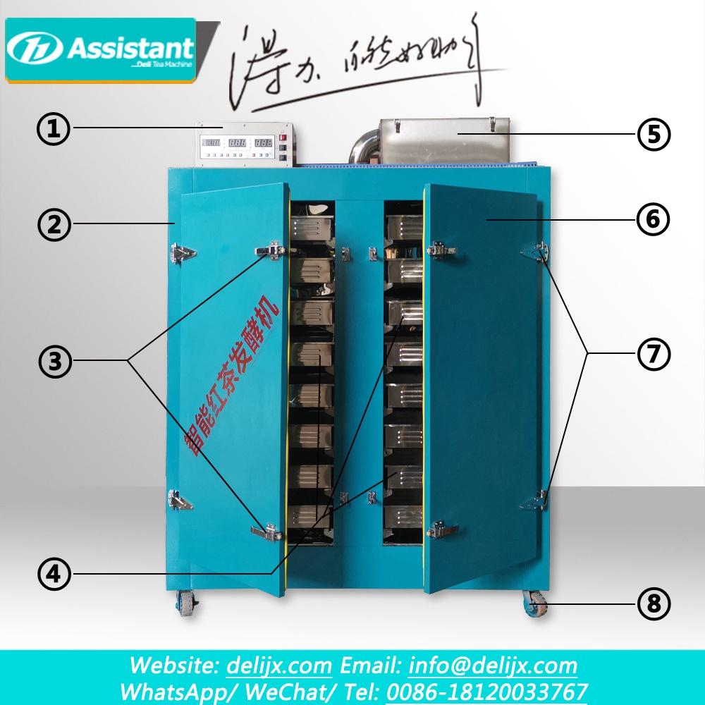 Máquina de procesamiento de fermentación de té de Heaitng eléctrico de control inteligente de 32 bandejas DL-6CFJ-120QB