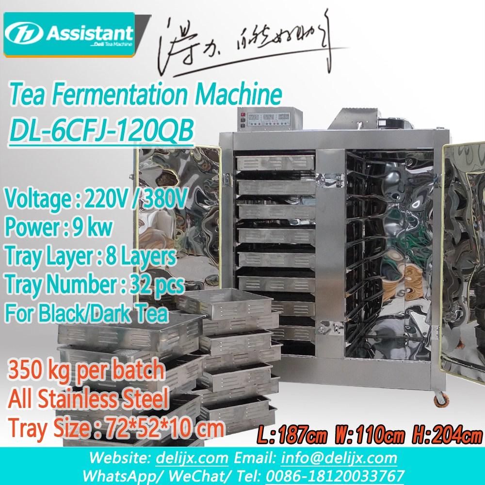 China 32 Trays Intelligent Control Electric Heaitng Tea Fermentation Processing Machine DL-6CFJ-120QB manufacturer