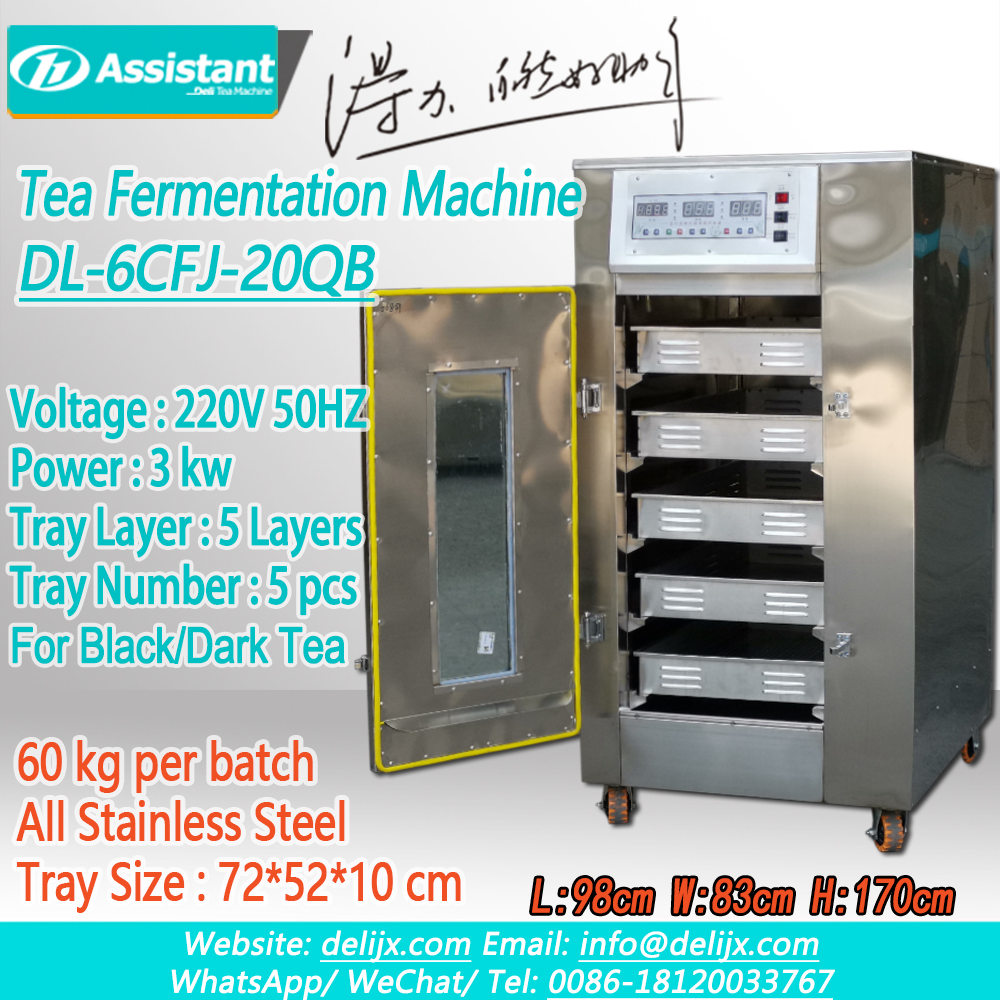 Black Tea Leaf Ferment Fermenting Machine At Home For Hotel