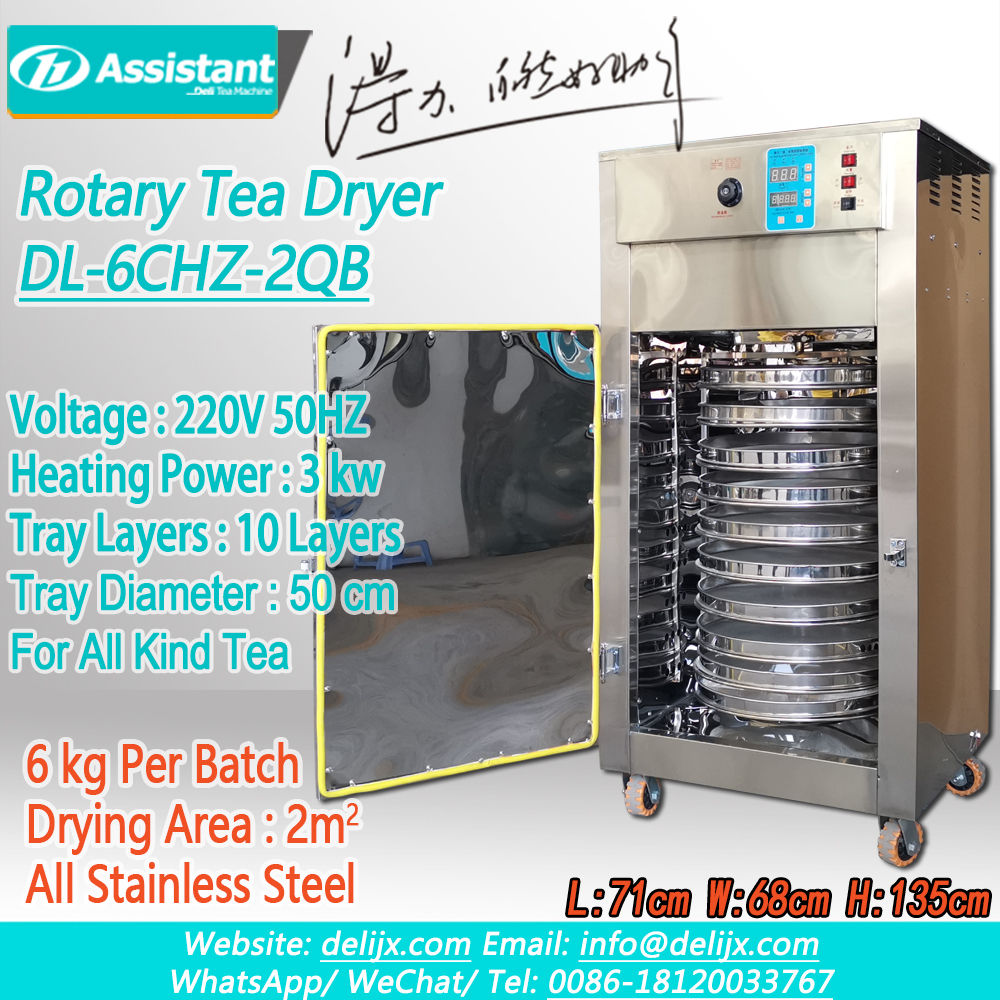 Mini Rotary Organic Orthodox Black/Yellow Tea Dryer Machine