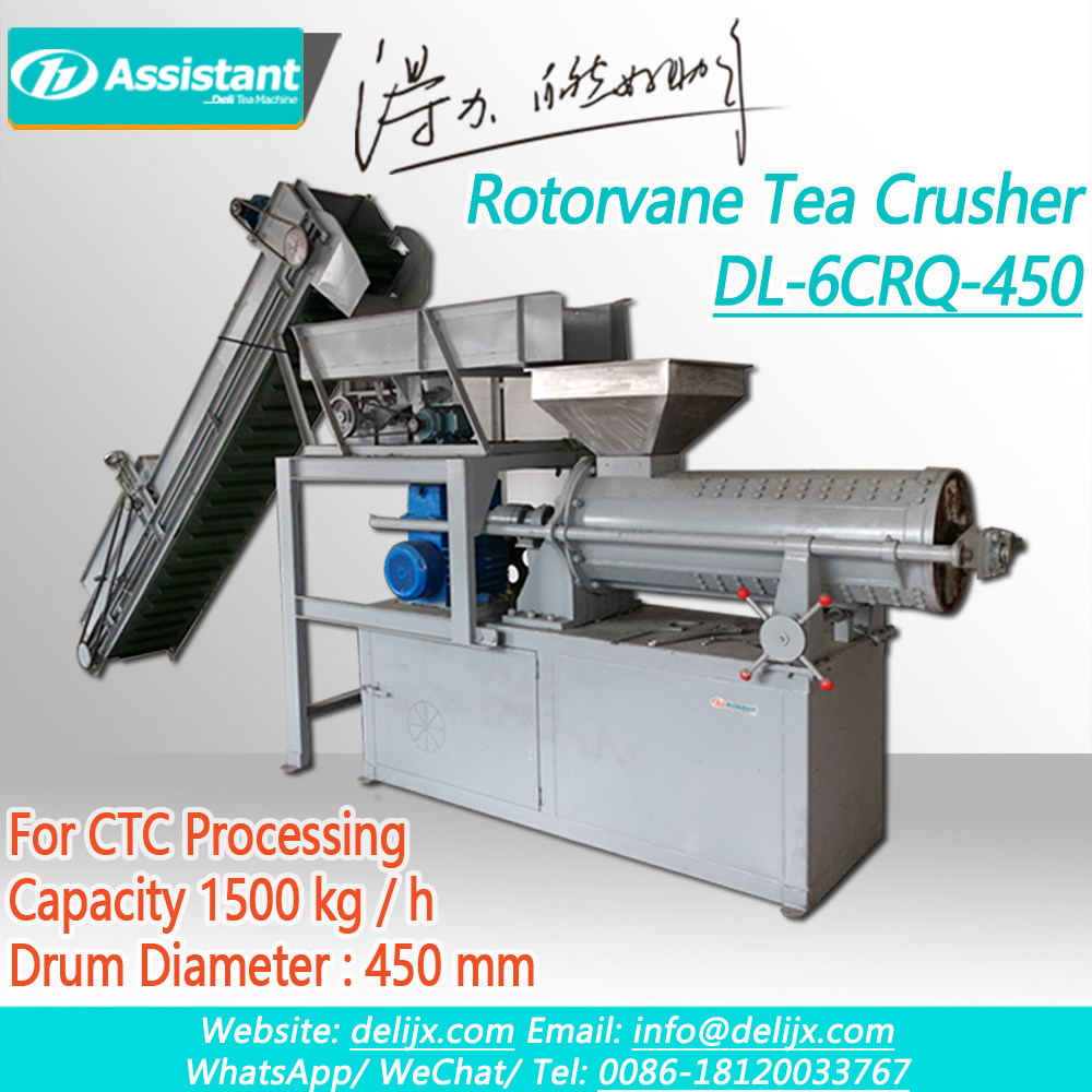 中国 Hrs Rotorvane CTC Tea Crush Tear And Curl Machine DL-6CRQ-450 メーカー