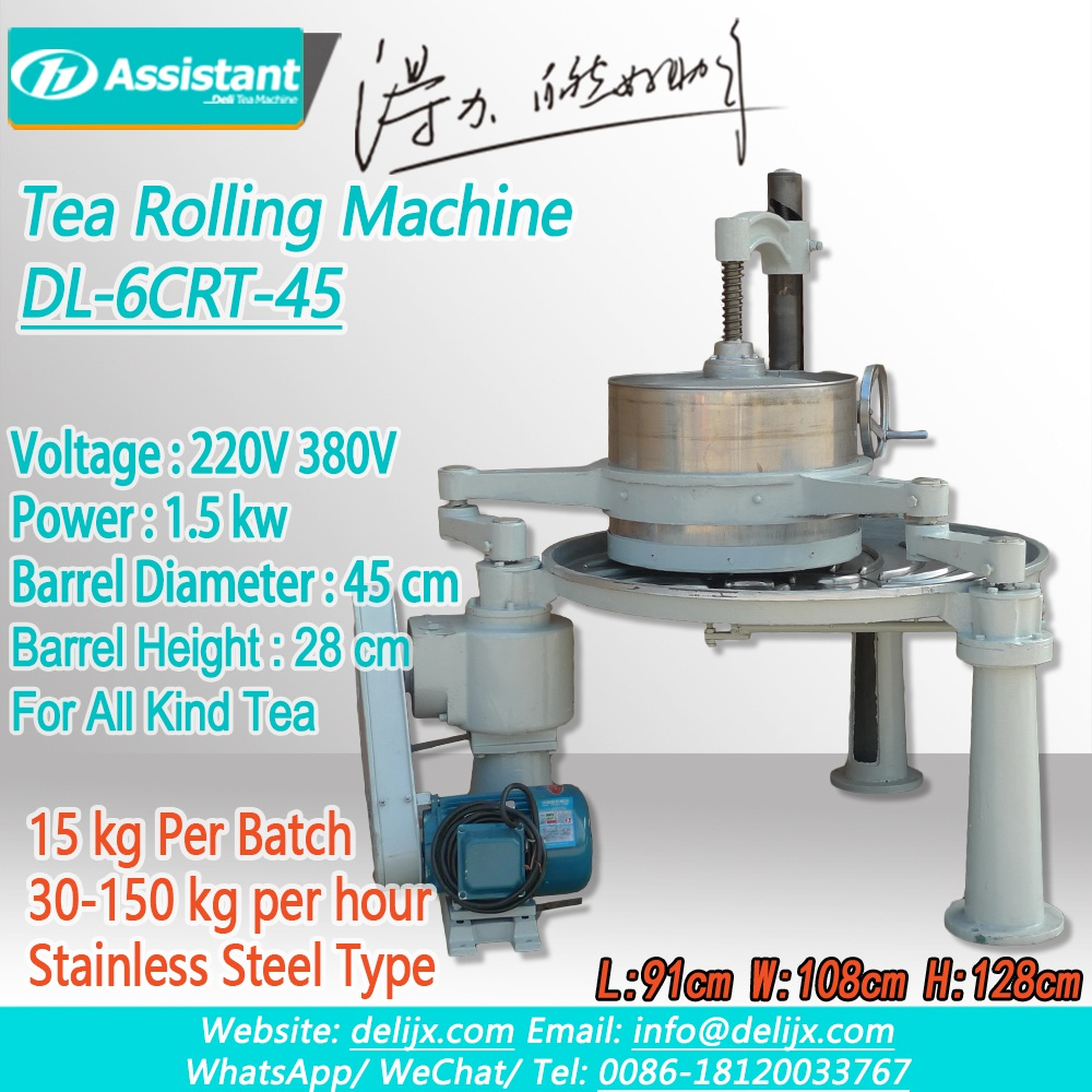 DL-6CRT-45-Tea-Leaf-Rolling-Machine/Orthodox-BlackGreen-Tea-Leaf-Rolling-Process-Machine-Price
