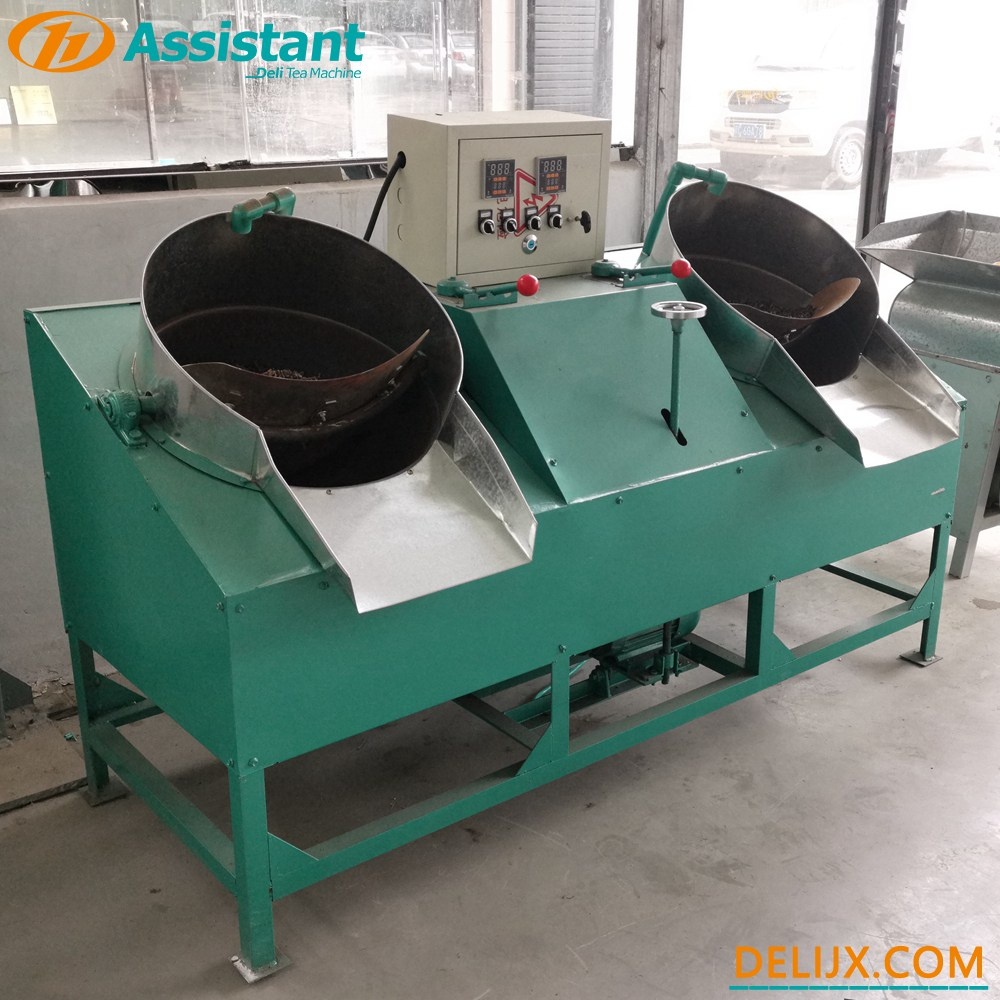 Cina PAN Ganda 2 Pot Pearl Type Teh Roast Shaping Machine DL-6CSG-50 pabrikan