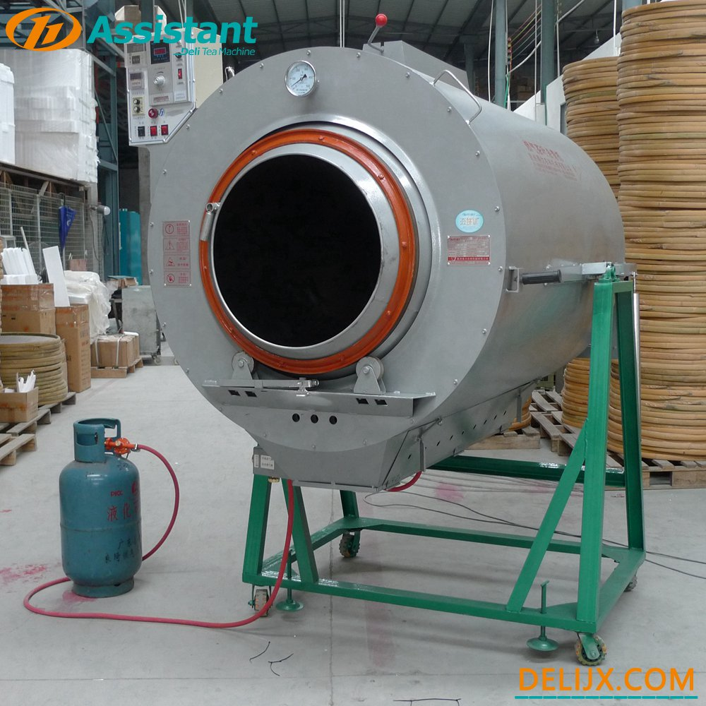 Cylinder Green Tea Steam Roaster Roasting Machine Factory