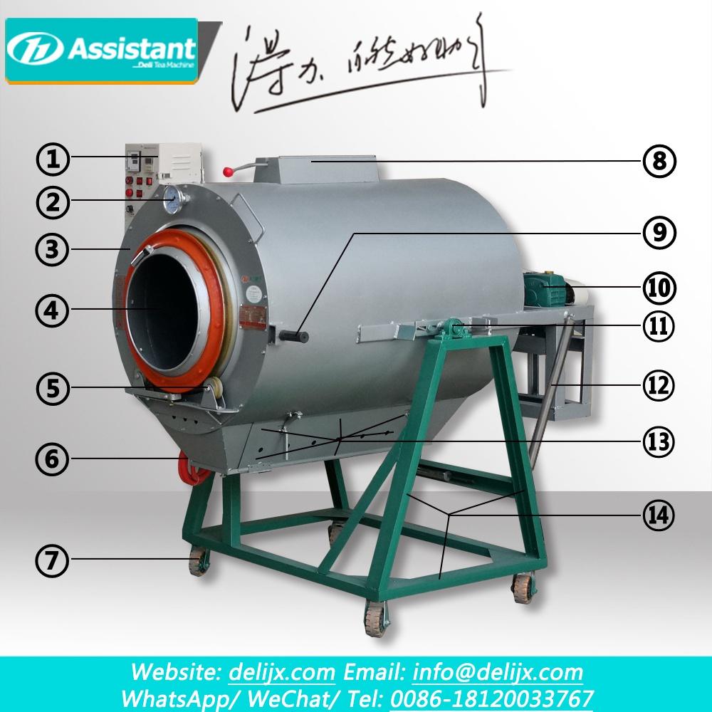 50cm Diameter Gas Heating Green Oolong Yellow Tea Fixation Machine DL-6CST-50