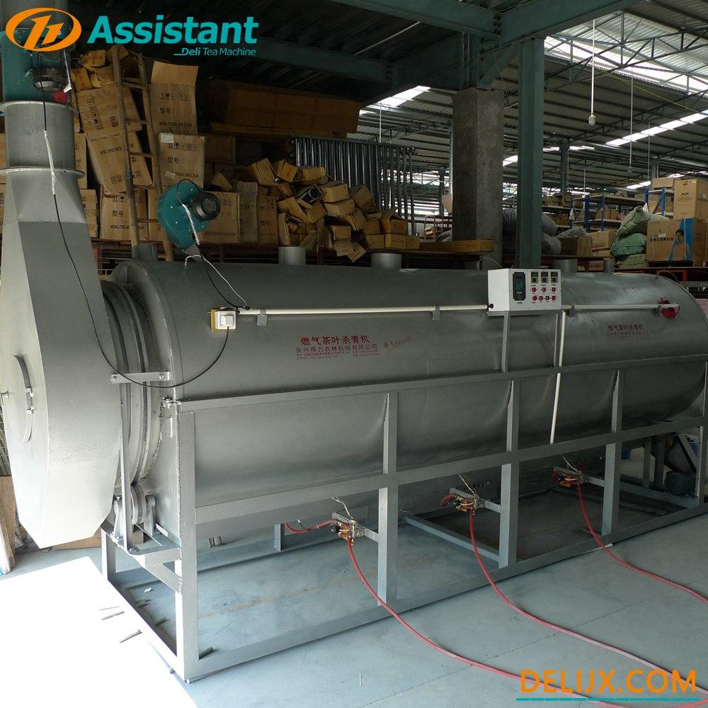ประเทศจีน LPG / LNG เครื่องนึ่งชาเขียว / อู่หลงแบบต่อเนื่อง DL-6CSTL-Q100 ผู้ผลิต