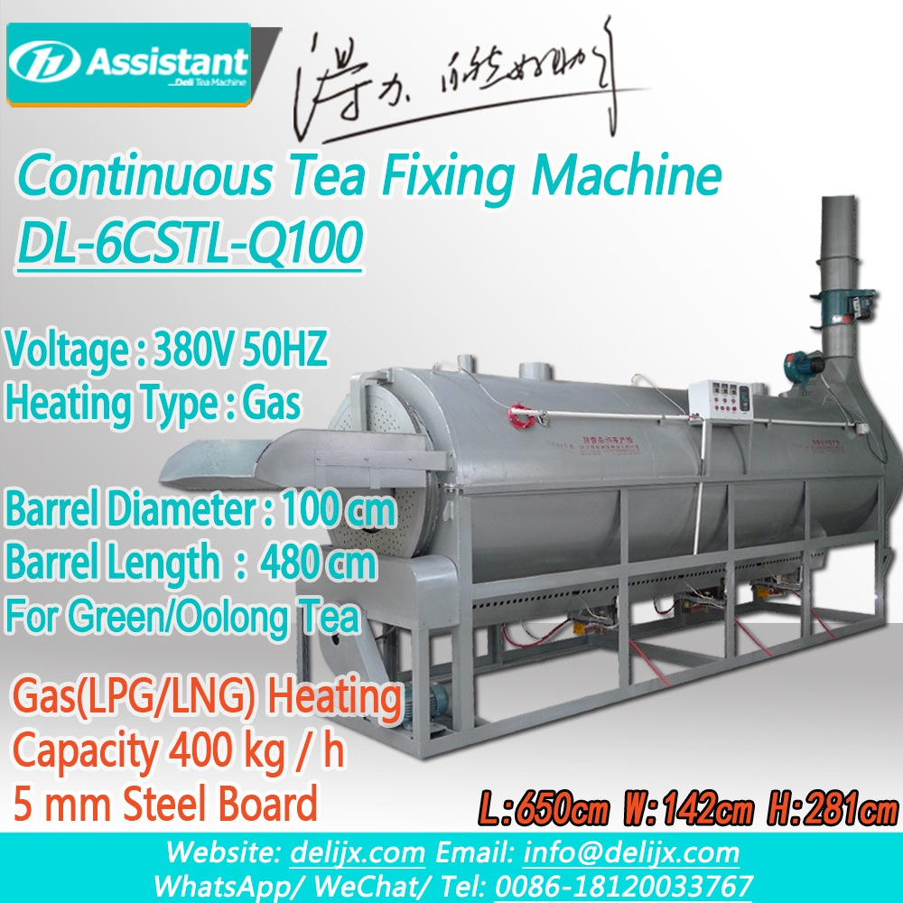 DL-6CSTL-Q100-Steaming-Machine-Continuous-LPGLNG-Gas-Heating-Green-Tea-Steaming-Machine-Continuous