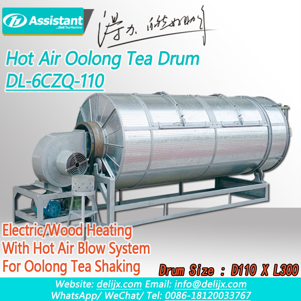 Electric/Wood Heating Hot Air Oolong Tea Shaking Drum Machine DL-6CZQ-110T