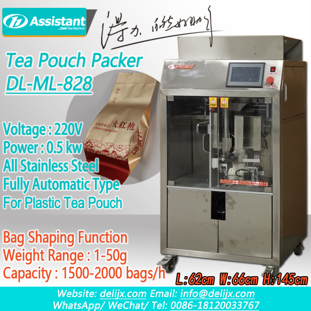 Hot Sell Square Shape Tea Packaging Pouch Packing Machine Price