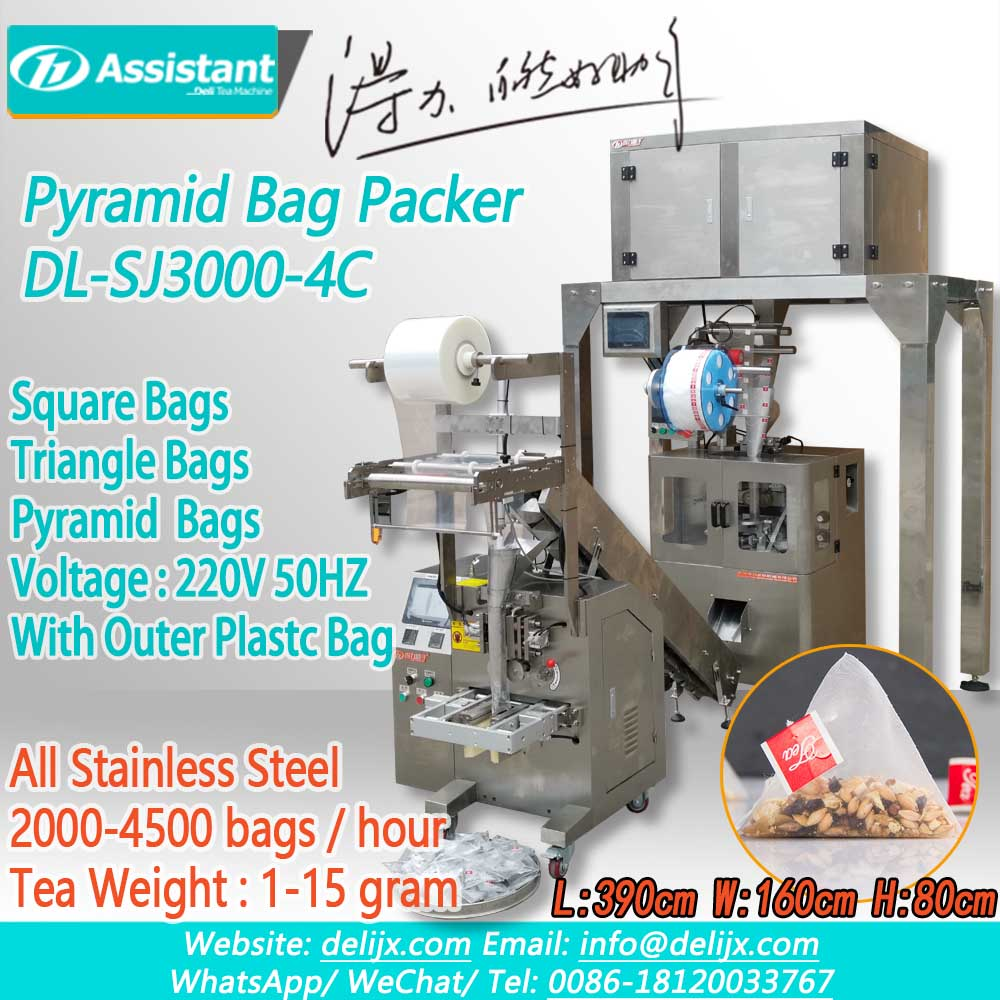 Automatic Triangle Pyramid Tea Bag Packaging Packing Machine