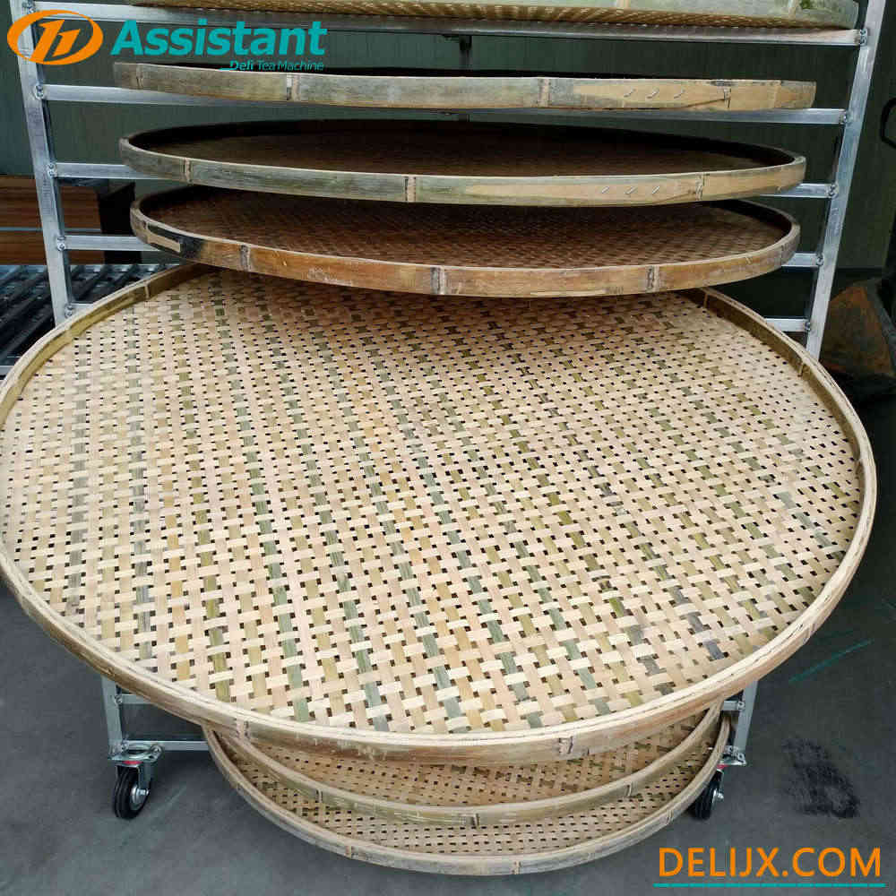 With 20pcs Bamboo Pallets Tea Natural Wither Rack DL-TQJ-20