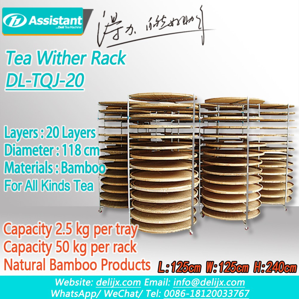 porcelana With 20pcs Bamboo Pallets Tea Natural Wither Rack DL-TQJ-20 fabricante