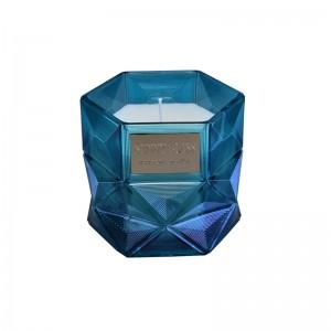 Hexgonal candle jar