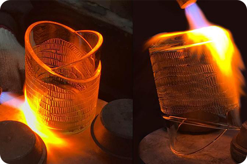 Glass candle jars crafts
