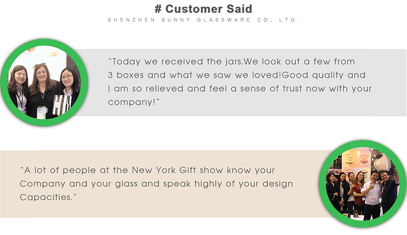 Sunny Glassware Customers Said