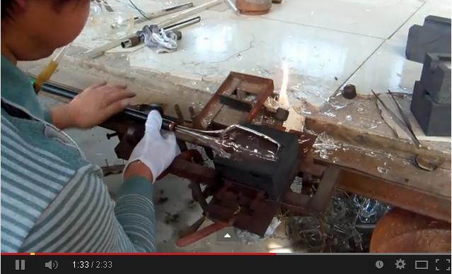 Glassware Hand blown Method