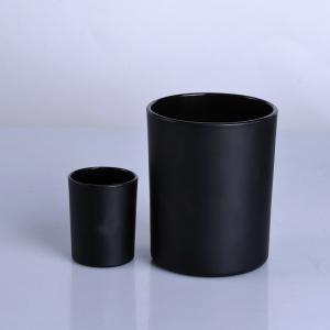 Ahşap kapaklı mat siyah cam mum kavanozu
