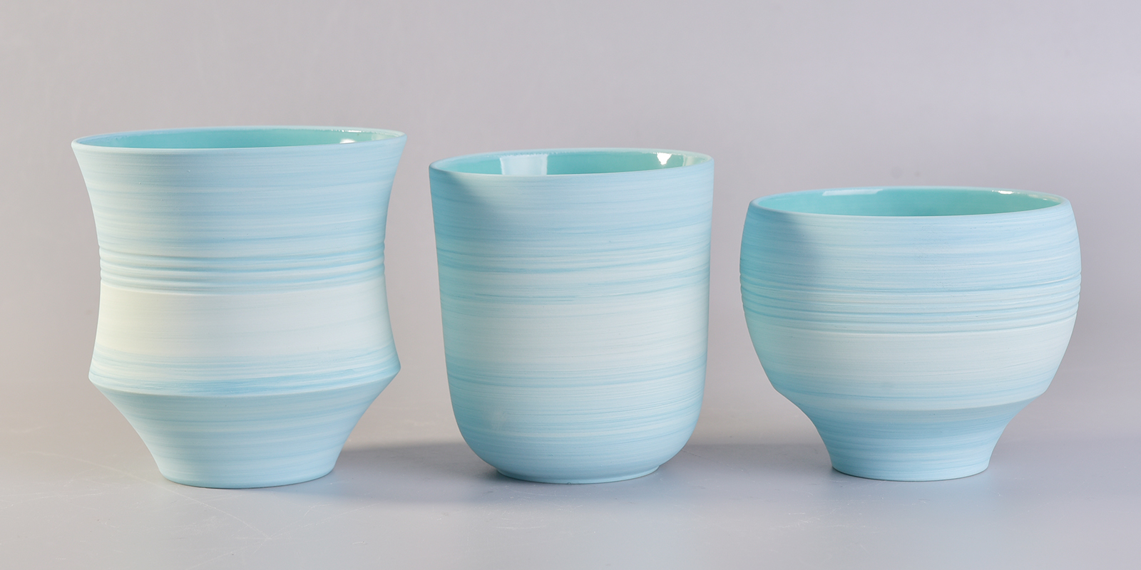 10oz Ceramic Candle Holder With Spray Colors