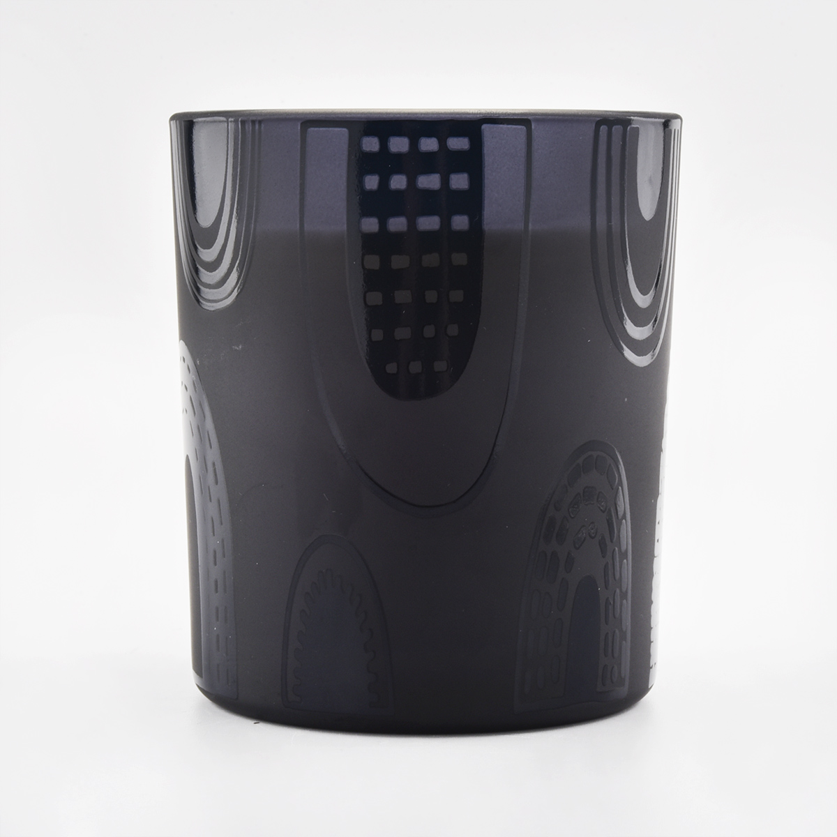Matte Black Glass Candle Jars Veľkoobchod