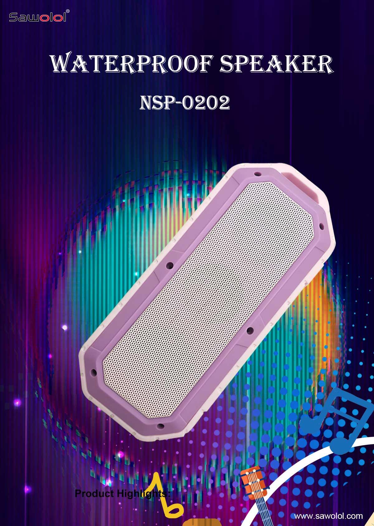Waterproof speaker for shower