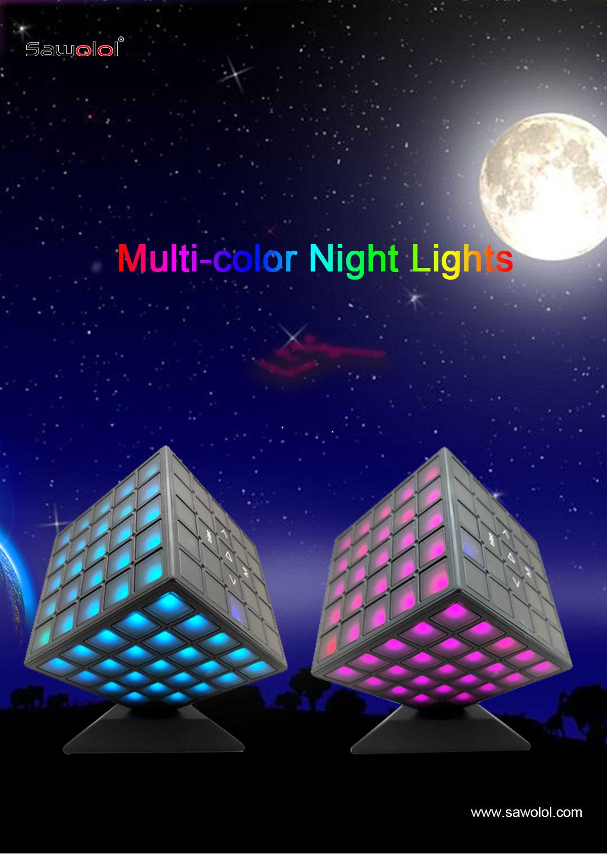 Led light speaker bluetooth supplier china