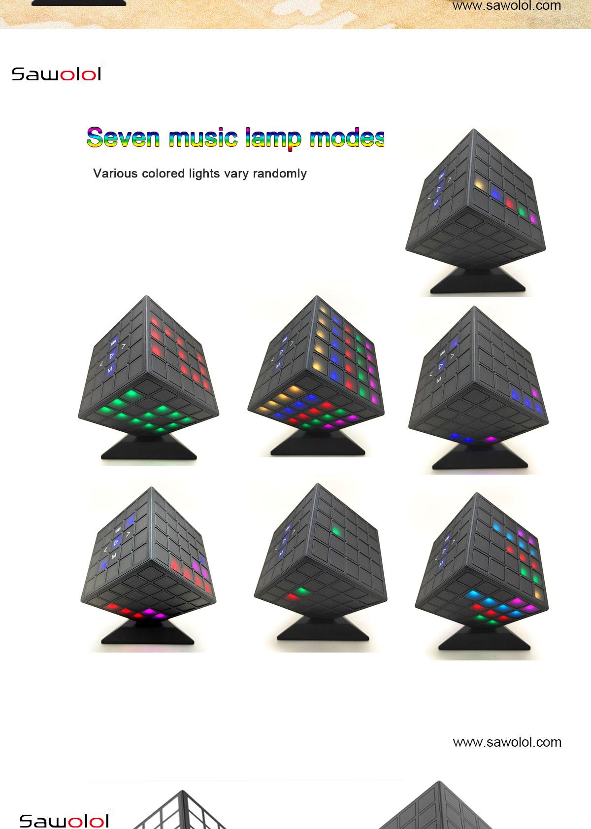 China led light speaker bluetooth supplier