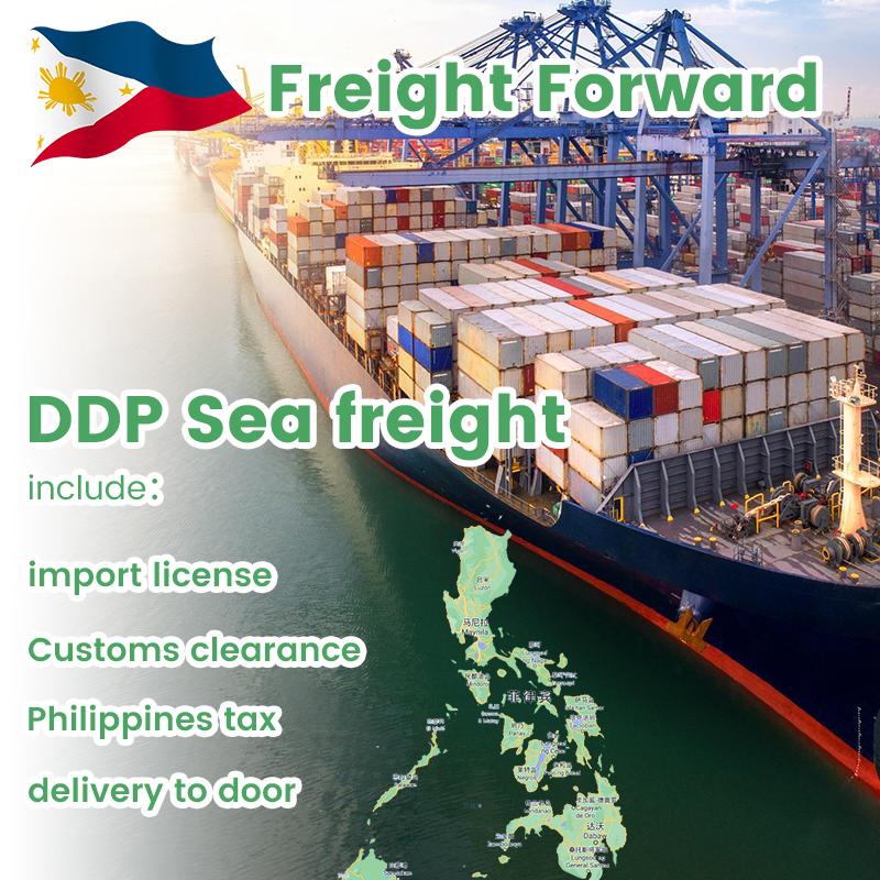 Pagpapadala ng dagat mula sa Tsina hanggang Pilipinas Forwarder sa Shenzhen Door sa Door Ocean Freight Rates