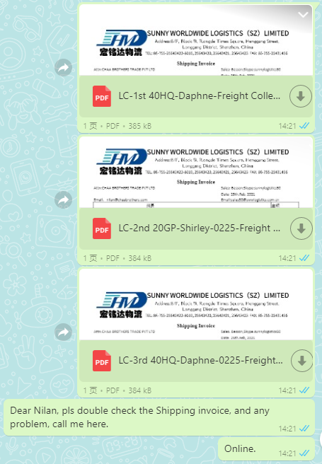 How does a logistics rookie in Sunny Worldwide Logistics deal with a Nepalese customer with Letter of Credit? ——Keeping eyes on your shipment, till you receive it.