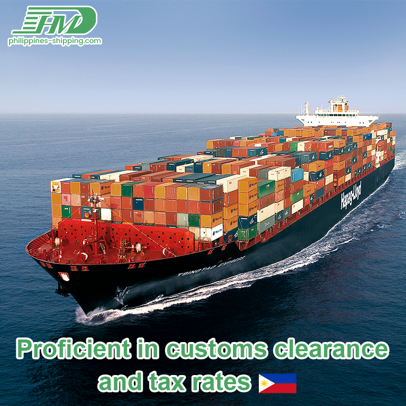 Customs taxes included China shipping agent to Philippines sea freight door to door