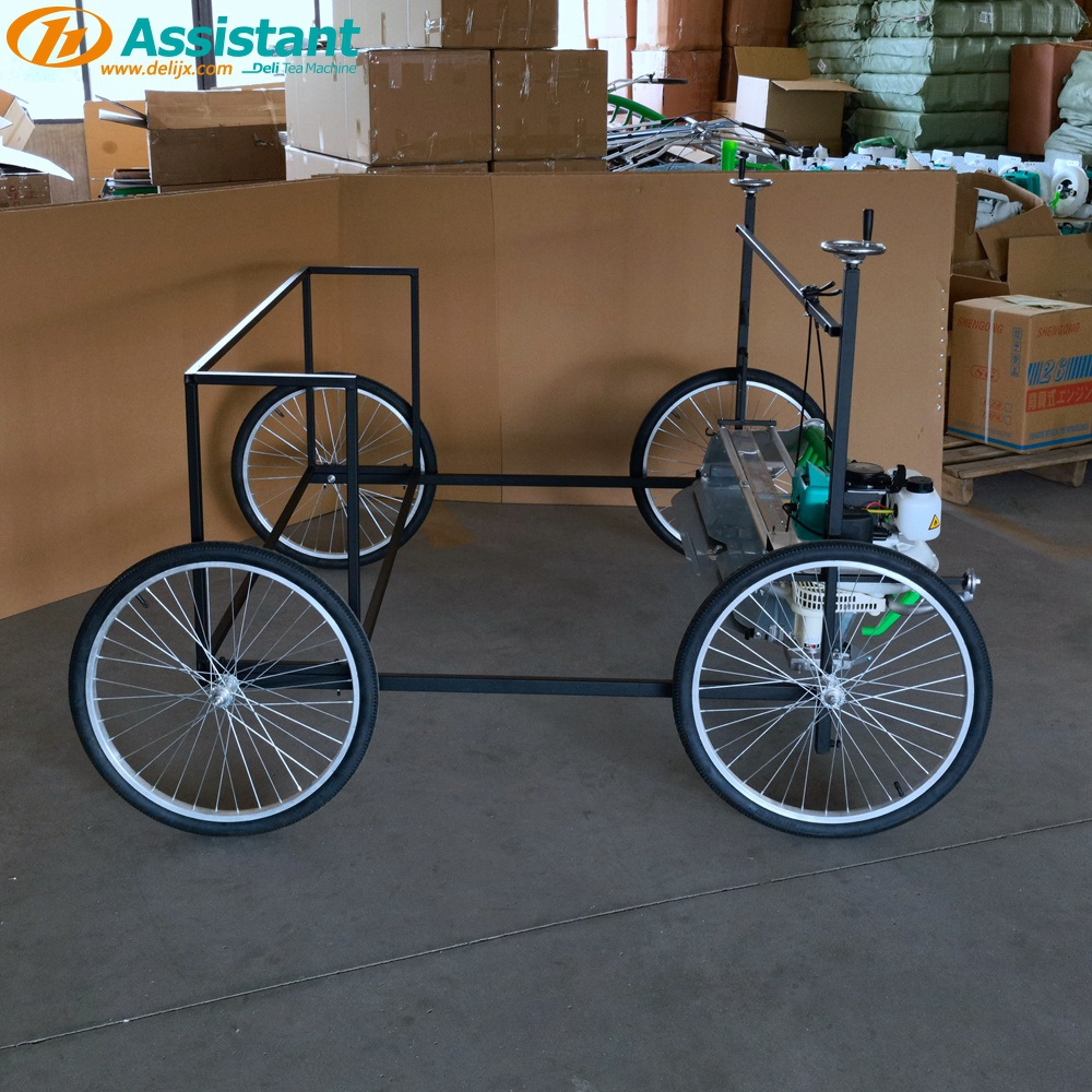 China 1210mm Lavender Herb Harvester Machine With Rack And Wheels DL-4CP-1210W manufacturer
