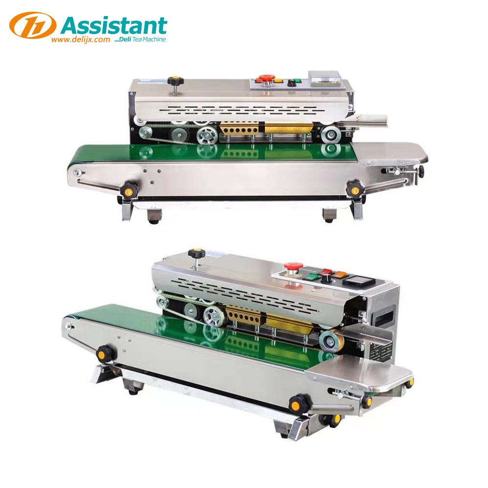 China Plastic Tea Pouch Continuous Band Heat Sealer DL-6CFR-900 manufacturer