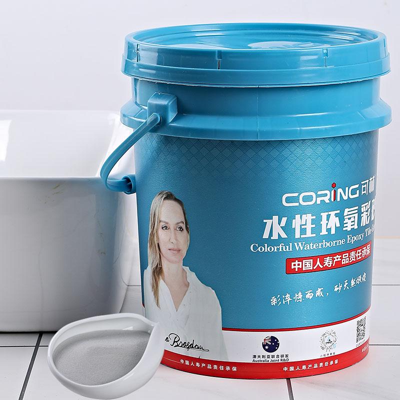 Waterborne epoxy adhesive grayish.