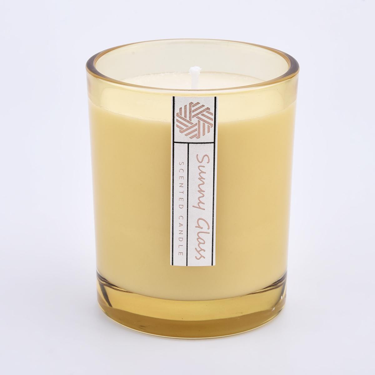 Custom Color and Logo 300ml 8oz wax glass candle jars wholesale