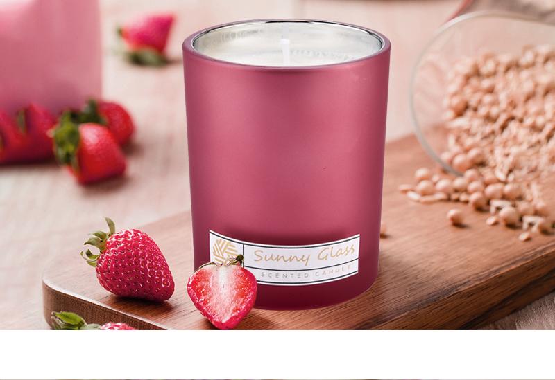 Unique glass candle jars wholesale custom color inside eletroplated
