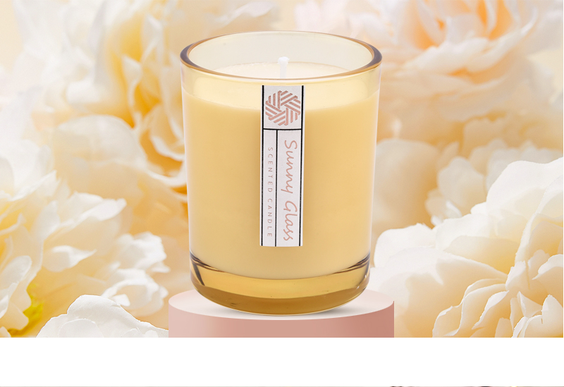 10 oz 300ml modern glass candle vessels garden decor customized color