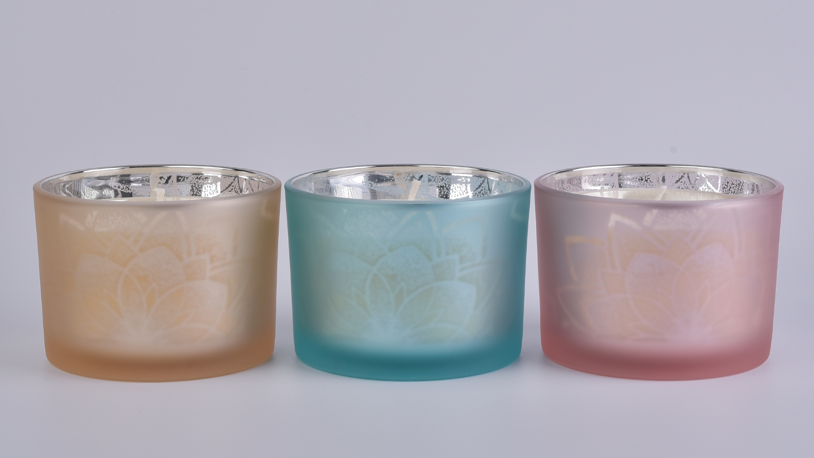 17oz Empty Glass Candle Container with lid Wholesale