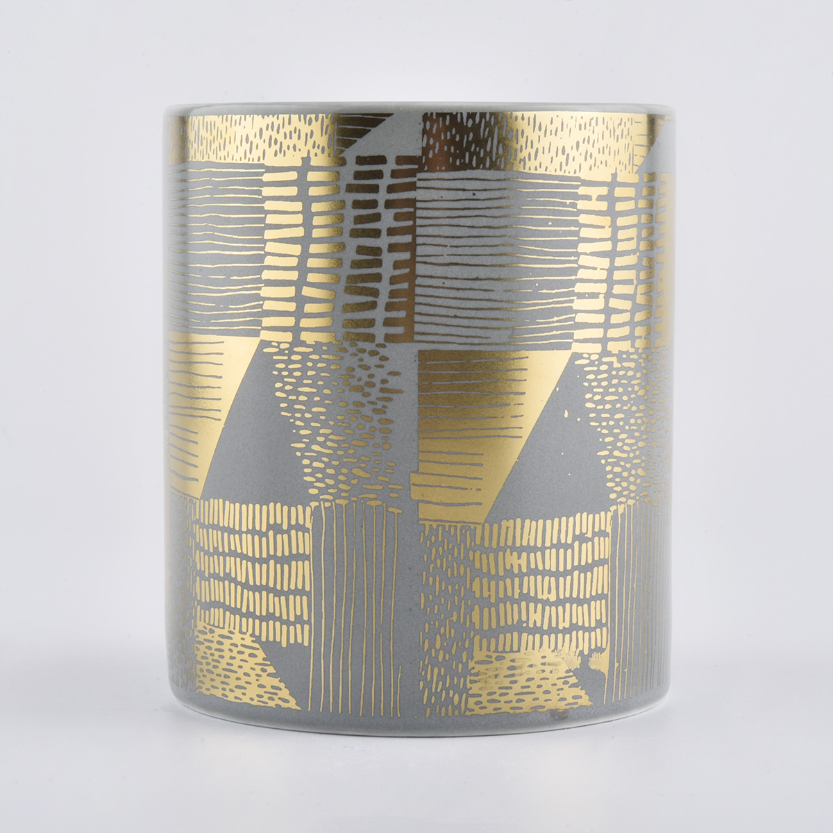 luxury 12oz ceramic candle jars in gold printing