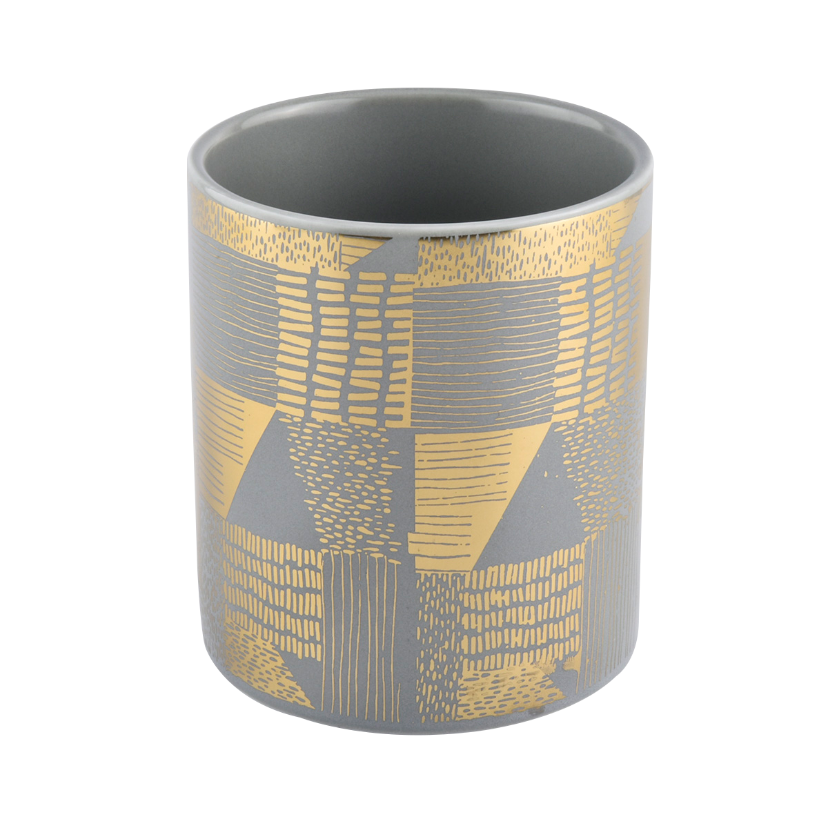 home decor pink ceramic candle holder with gold artwork - COPY - gemnlg