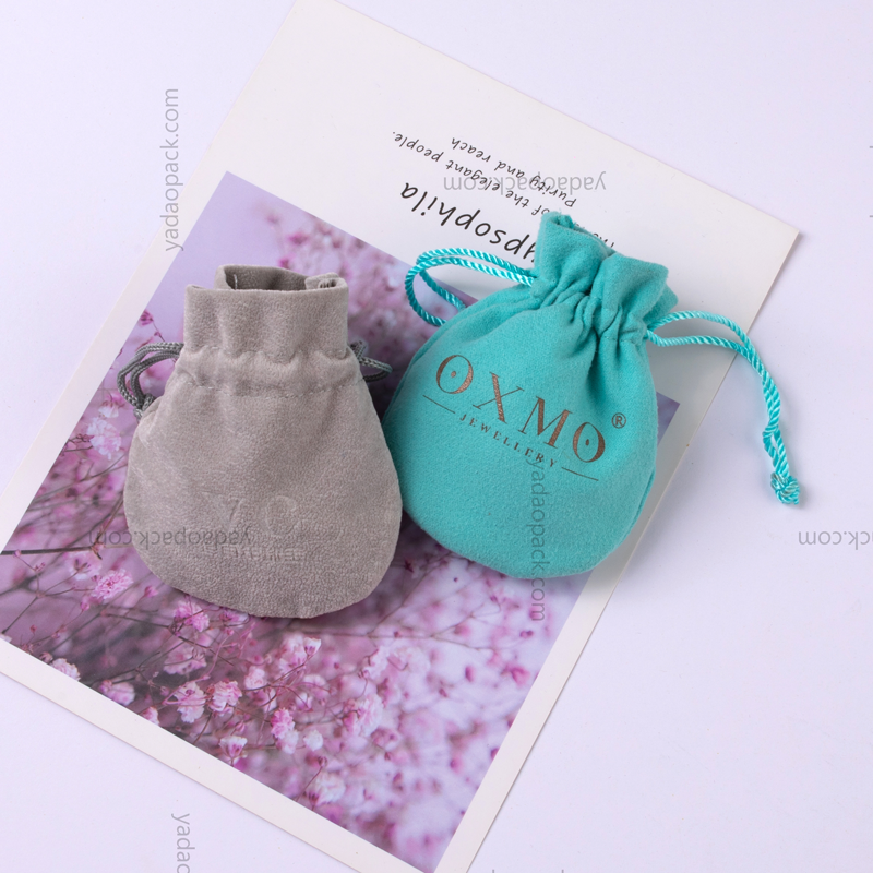 Classic amphora shaped velvet bags for jewelry