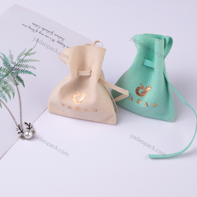 Wholesale jewelry pouch with drawstring closure jewelry packaging pouch