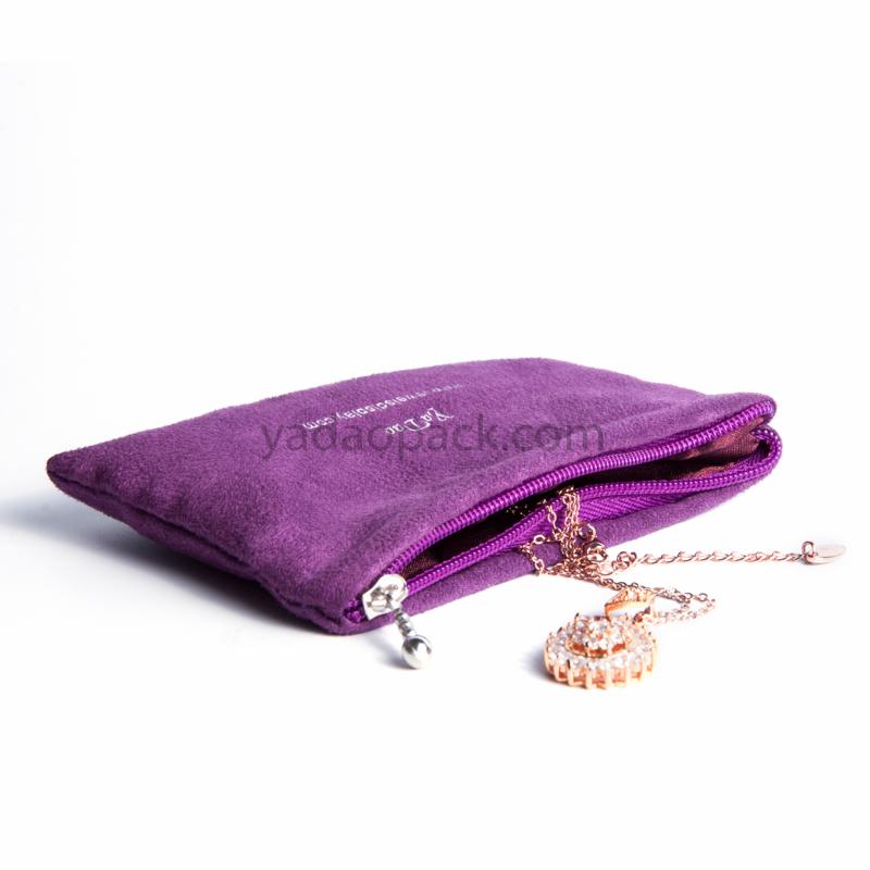Zipper velvet pouch for bangle packaging