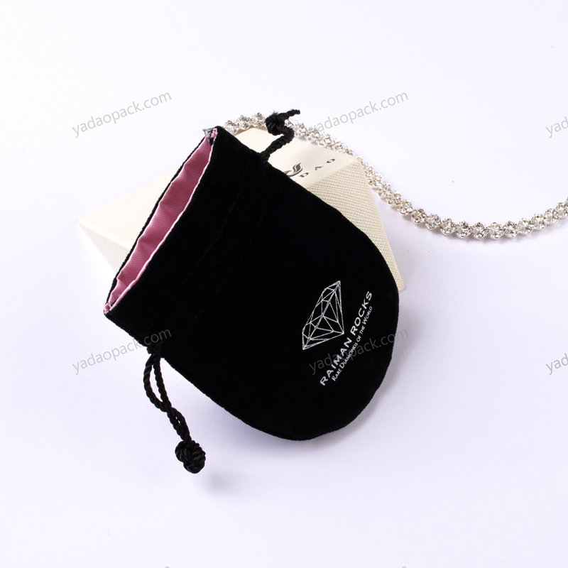 Different material insert and outside drawstring pouch
